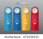 business info graphic template... | Shutterstock .eps vector #673136512