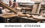 male carpenter working with a...   Shutterstock . vector #673141066