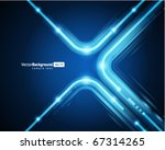 abstract retro technology lines ... | Shutterstock .eps vector #67314265