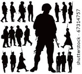 soldiers and police vector... | Shutterstock .eps vector #67314757
