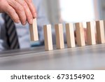 business progress concept with... | Shutterstock . vector #673154902