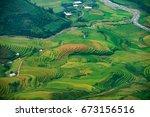 amazing rice fields on terraced ... | Shutterstock . vector #673156516