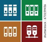 bureaucracy icons set. set of 4 ... | Shutterstock .eps vector #673159456