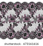 seamless vector lace pattern | Shutterstock .eps vector #673161616