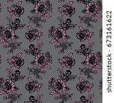 seamless vector lace pattern | Shutterstock .eps vector #673161622