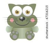 Cat baby funny cartoon illustration - stock vector