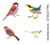 birds | Shutterstock . vector #673167796