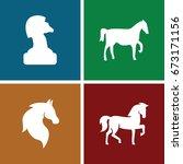 stallion icons set. set of 4...   Shutterstock .eps vector #673171156