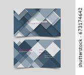 business card design template.  | Shutterstock .eps vector #673174642