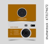 photographer business card... | Shutterstock .eps vector #673174672