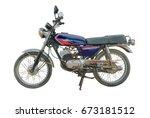 classic motorbike on white... | Shutterstock . vector #673181512