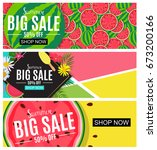 summer sale abstract banner... | Shutterstock .eps vector #673200166