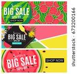 summer sale abstract banner... | Shutterstock .eps vector #673200166