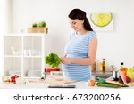 healthy eating  pregnancy and... | Shutterstock . vector #673200256