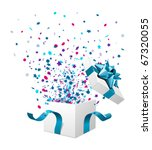 open explore gift with fly... | Shutterstock .eps vector #67320055