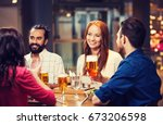 leisure  eating  food and... | Shutterstock . vector #673206598
