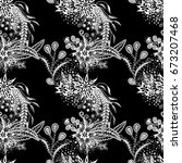 orient seamless pattern. floral ... | Shutterstock .eps vector #673207468