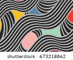 color abstract pattern with... | Shutterstock .eps vector #673218862