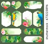 collection holidays labels with ... | Shutterstock .eps vector #673223896