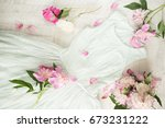 glamor elegant evening party... | Shutterstock . vector #673231222
