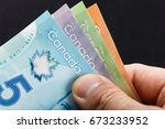 canadian dollar  concept of... | Shutterstock . vector #673233952