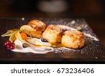delicious healthy breakfast....   Shutterstock . vector #673236406