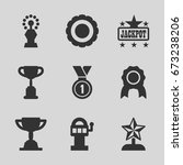 prize icons set. set of 9 prize ... | Shutterstock .eps vector #673238206