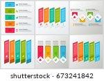 bundle infographic elements | Shutterstock .eps vector #673241842
