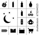 full icon. set of 13 filled... | Shutterstock .eps vector #673244515