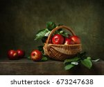 Still Life With Apples In A...