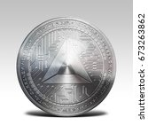 silver basic attention token... | Shutterstock . vector #673263862