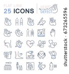 set vector line icons  sign and ... | Shutterstock .eps vector #673265596