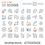 set vector line icons  sign and ... | Shutterstock .eps vector #673265626