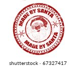 Red Grunge Rubber Stamp With...