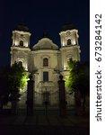 Illuminated Church At Night