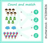 counting game for preschool... | Shutterstock .eps vector #673284826