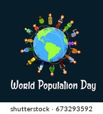 world population day vector  ... | Shutterstock .eps vector #673293592