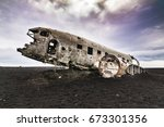 Wreckage Of Crashed Airplane O...