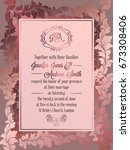 vintage baroque style wedding... | Shutterstock .eps vector #673308406