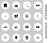 set of 16 editable home icons....