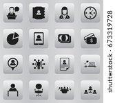 set of 16 editable job icons....