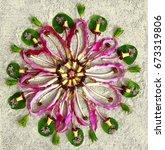 natural mandala. natural... | Shutterstock . vector #673319806