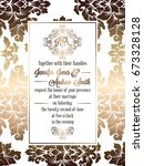 vintage baroque style wedding... | Shutterstock .eps vector #673328128