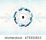 cyber security protection...   Shutterstock .eps vector #673331812