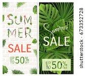 Summer Sale. Tropical Palm...