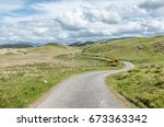 Scottish Single Track Road Wit...