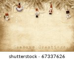 holiday greeting card | Shutterstock . vector #67337626