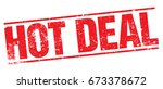 hot deal stamp | Shutterstock .eps vector #673378672