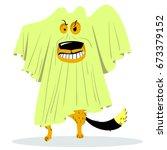halloween dog character in... | Shutterstock .eps vector #673379152