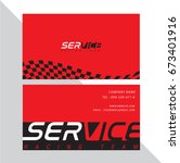 business card vector design and ... | Shutterstock .eps vector #673401916